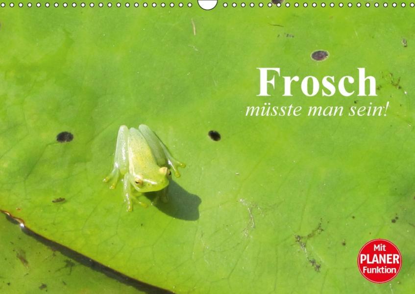 Frosch müsste man sein! (Wandkalender 2017 DIN A3 quer) - Coverbild