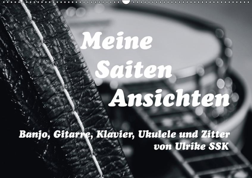 Meine Saiten Ansichten - Banjo, Gitarre, Klavier, Ukulele und Zitter von Ulrike SSK (Wandkalender 2017 DIN A2 quer) - Coverbild