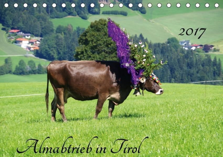 Almabtrieb in Tirol (Tischkalender 2017 DIN A5 quer) - Coverbild