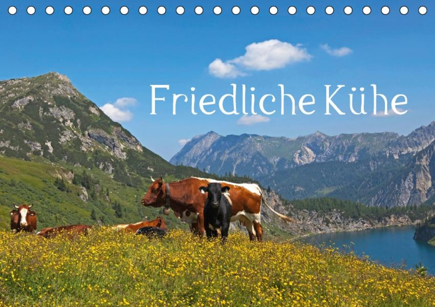 Friedliche Kühe (Tischkalender 2017 DIN A5 quer) - Coverbild