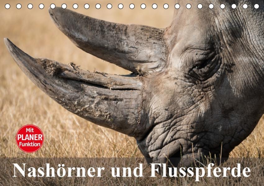 Nashörner und Flusspferde (Tischkalender 2017 DIN A5 quer) - Coverbild