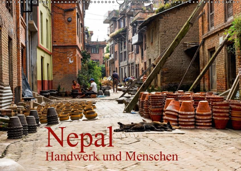 Nepal – Handwerk und Menschen – (Wandkalender 2017 DIN A2 quer) - Coverbild