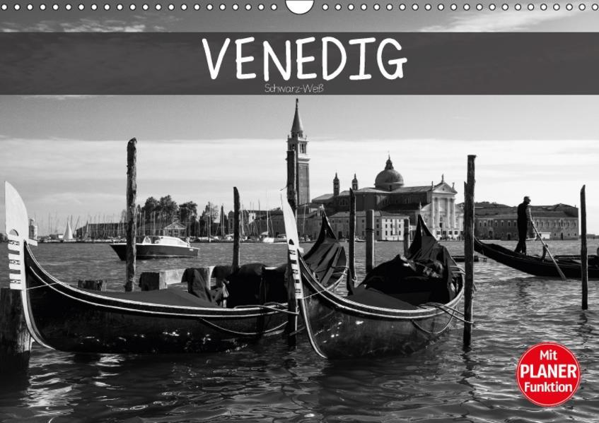 Venedig schwarz-weiß (Wandkalender 2017 DIN A3 quer) - Coverbild