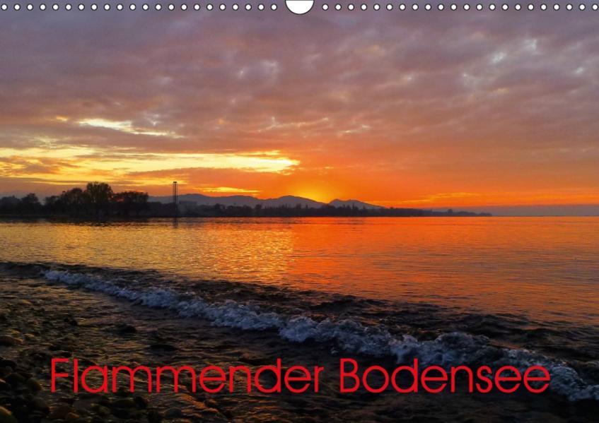 Flammender BodenseeAT-Version  (Wandkalender 2017 DIN A3 quer) - Coverbild
