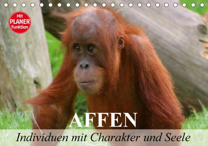 Affen - Individuen mit Charakter und Seele (Tischkalender 2017 DIN A5 quer) - Coverbild