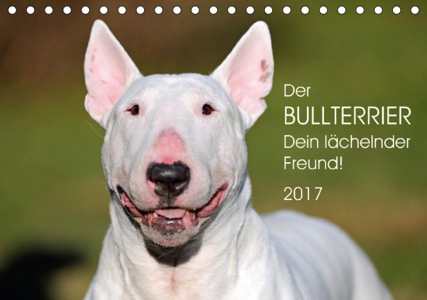 Der Bullterrier, Dein lächelnder Freund!AT-Version  (Tischkalender 2017 DIN A5 quer) - Coverbild