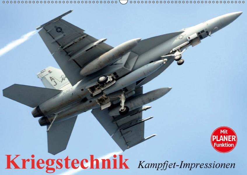 Kriegstechnik. Kampfjet-Impressionen (Wandkalender 2017 DIN A2 quer) - Coverbild