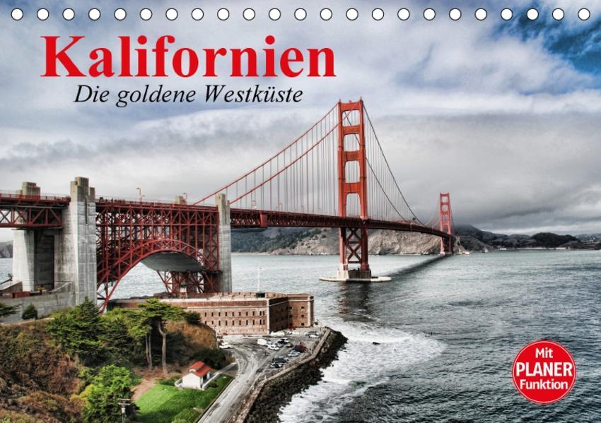 Kalifornien. Die goldene Westküste (Tischkalender 2017 DIN A5 quer) - Coverbild