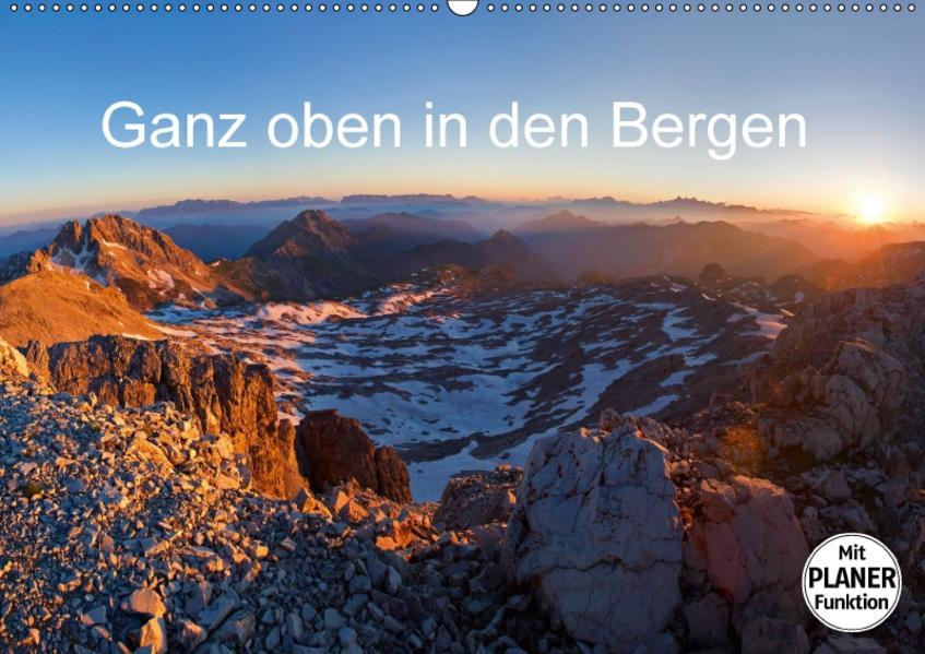 Ganz oben in den BergenAT-Version  (Wandkalender 2017 DIN A2 quer) - Coverbild