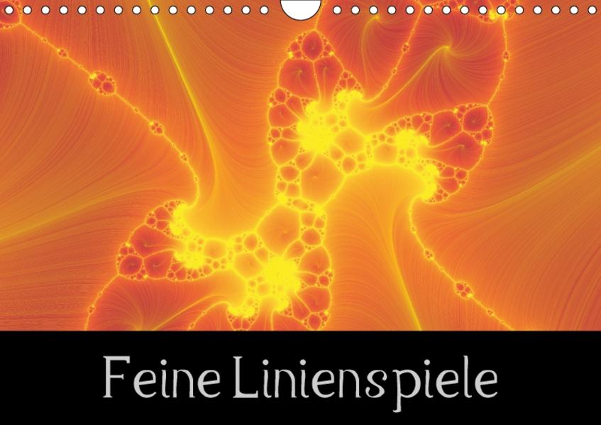 Feine Linienspiele (Wandkalender 2017 DIN A4 quer) - Coverbild