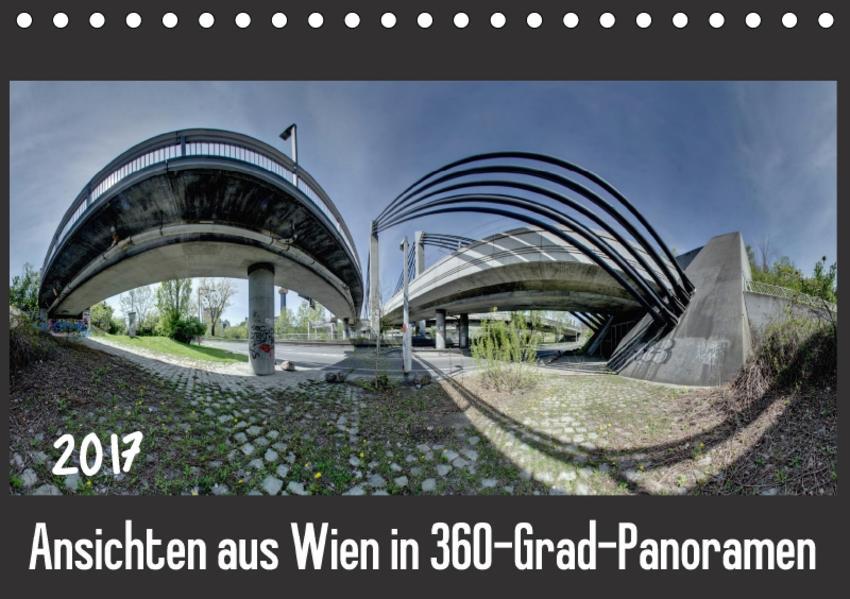 Ansichten aus Wien in 360-Grad-Panoramen (Tischkalender 2017 DIN A5 quer) - Coverbild