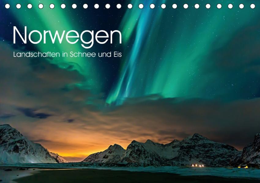 Norwegen, Landschaften in Schnee und Eis (Tischkalender 2017 DIN A5 quer) - Coverbild