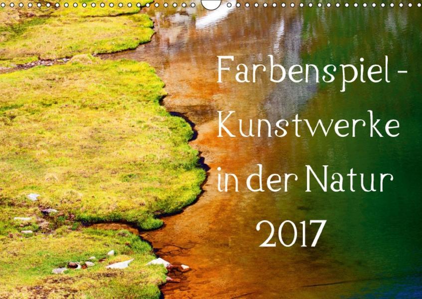 Farbenspiel - Kunstwerke in der Natur 2017 (Wandkalender 2017 DIN A3 quer) - Coverbild