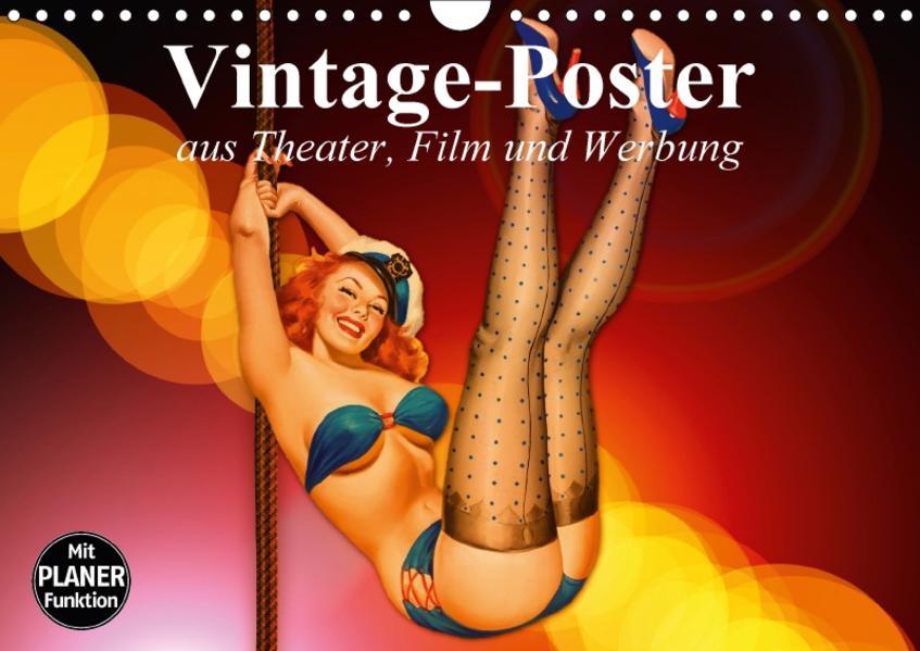 Vintage-Poster aus Theater, Film und Werbung (Wandkalender 2017 DIN A4 quer) - Coverbild