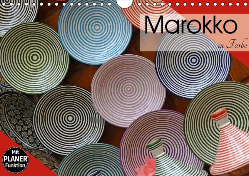 Marokko in Farbe (Wandkalender 2017 DIN A4 quer) - Coverbild