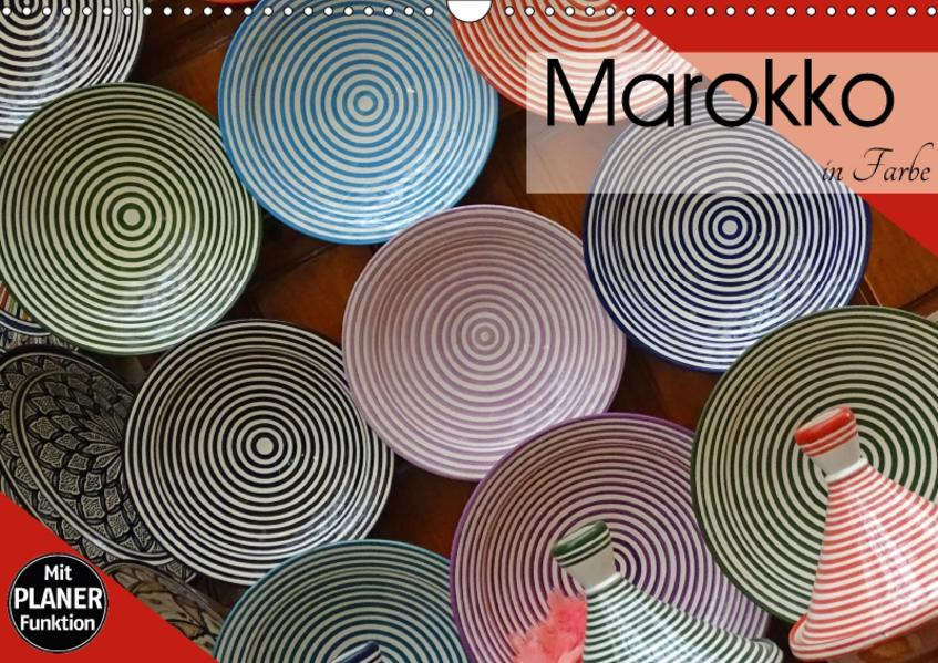 Marokko in Farbe (Wandkalender 2017 DIN A3 quer) - Coverbild