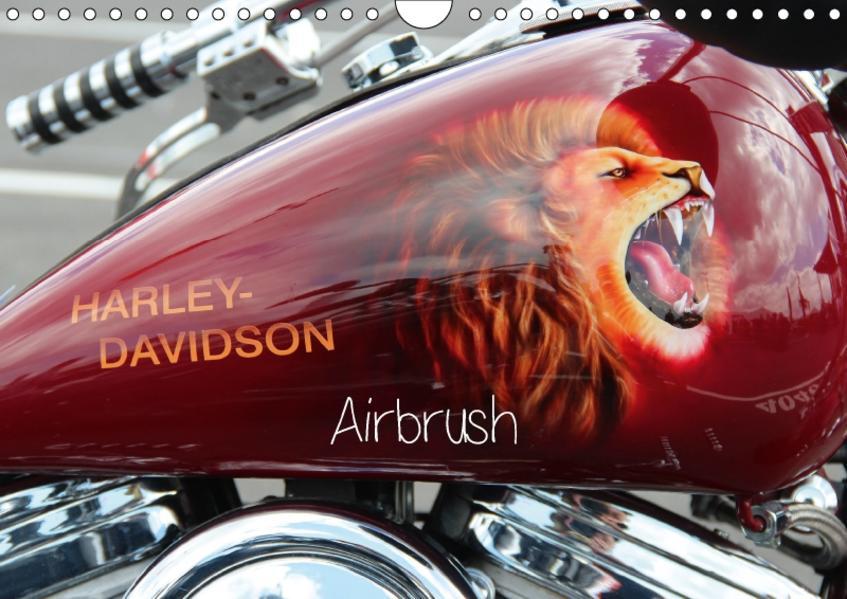 Harley Davidson - Airbrush (Wandkalender 2017 DIN A4 quer) - Coverbild
