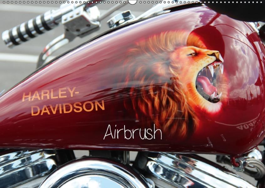 Harley Davidson - Airbrush (Wandkalender 2017 DIN A2 quer) - Coverbild