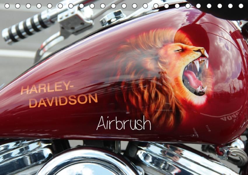 Harley Davidson - Airbrush (Tischkalender 2017 DIN A5 quer) - Coverbild