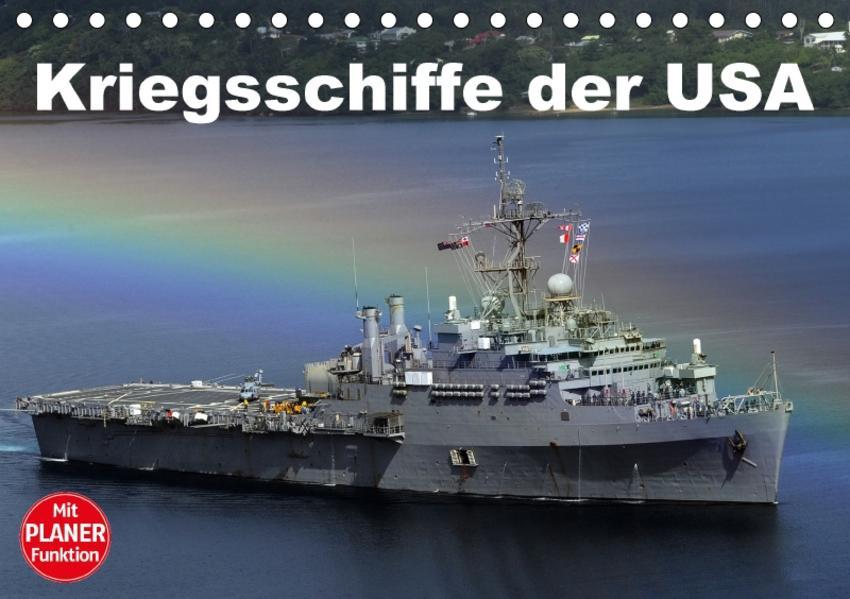 Kriegsschiffe der USA (Tischkalender 2017 DIN A5 quer) - Coverbild