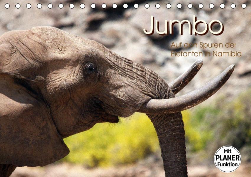 Jumbo - Auf den Spuren der Elefanten in Namibia (Tischkalender 2017 DIN A5 quer) - Coverbild