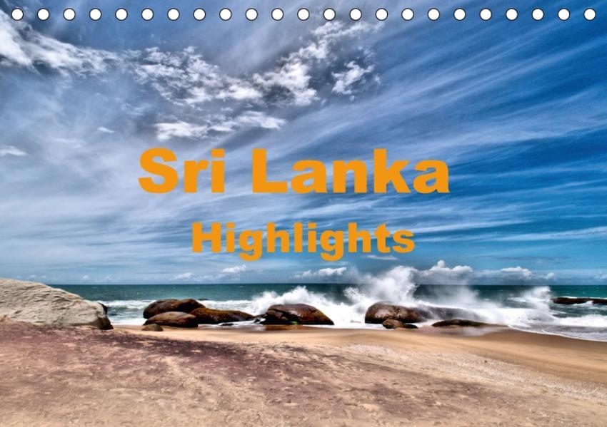 Sri Lanka - Highlights (Tischkalender 2017 DIN A5 quer) - Coverbild