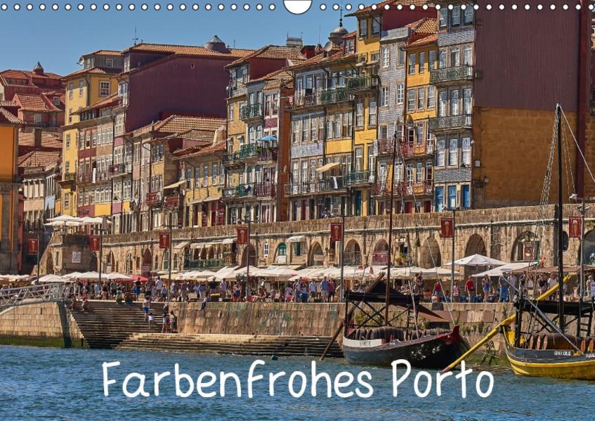 Farbenfrohes Porto (Wandkalender 2017 DIN A3 quer) - Coverbild