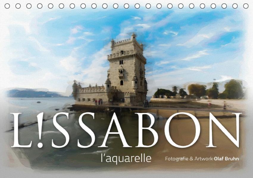 Lissabon l'aquarelle (Tischkalender 2017 DIN A5 quer) - Coverbild