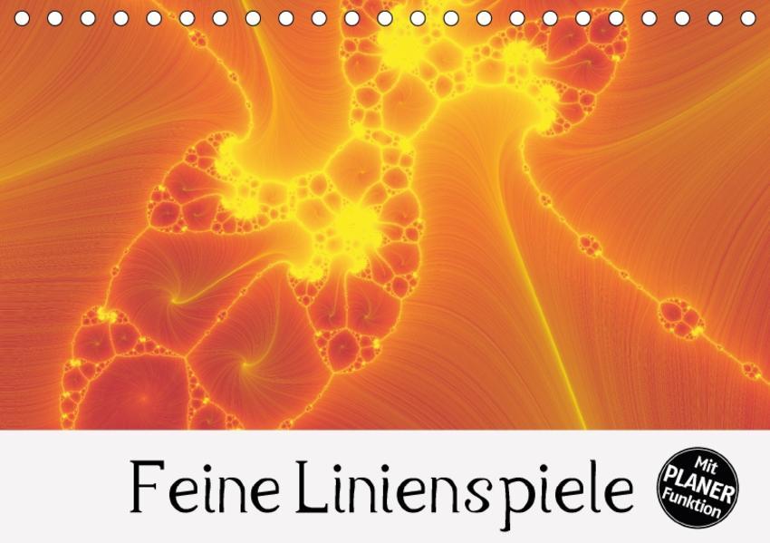 Feine Linienspiele (Tischkalender 2017 DIN A5 quer) - Coverbild
