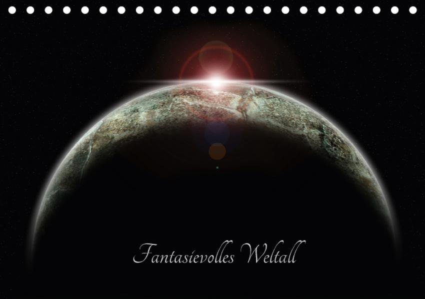 Fantasievolles Weltall (Tischkalender 2017 DIN A5 quer) - Coverbild