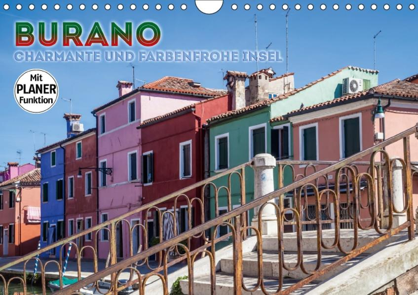 BURANO Charmante und farbenfrohe Insel (Wandkalender 2017 DIN A4 quer) - Coverbild