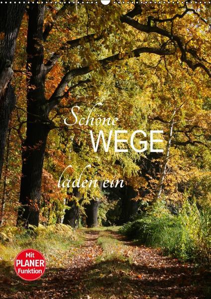 Schöne Wege laden ein (Wandkalender 2017 DIN A2 hoch) - Coverbild
