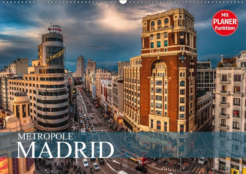Metropole Madrid (Wandkalender 2017 DIN A2 quer) - Coverbild