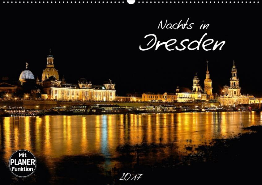 Nachts in Dresden (Wandkalender 2017 DIN A2 quer) - Coverbild