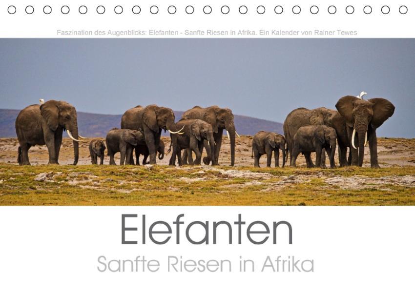Elefanten - Sanfte Riesen in Afrika (Tischkalender 2017 DIN A5 quer) - Coverbild