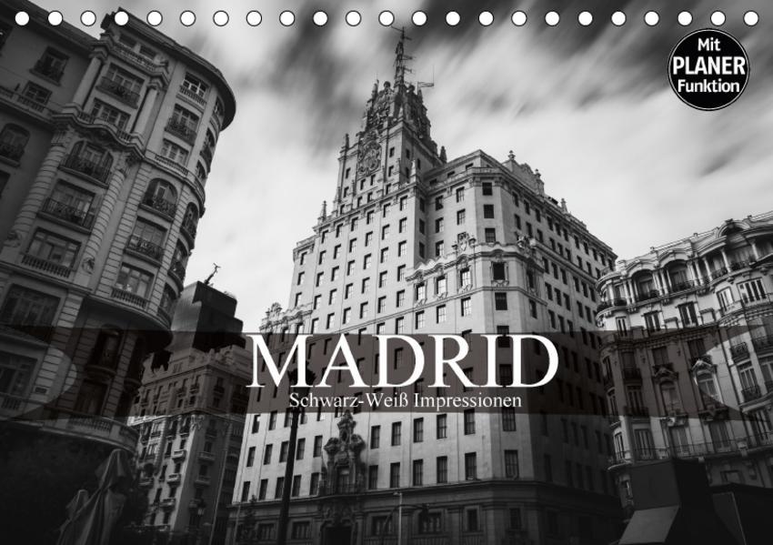 Madrid - Schwarz-Weiß Impressionen (Tischkalender 2017 DIN A5 quer) - Coverbild