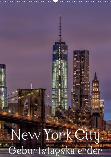 New York City Geburtstagskalender (Wandkalender 2017 DIN A2 hoch) - Coverbild