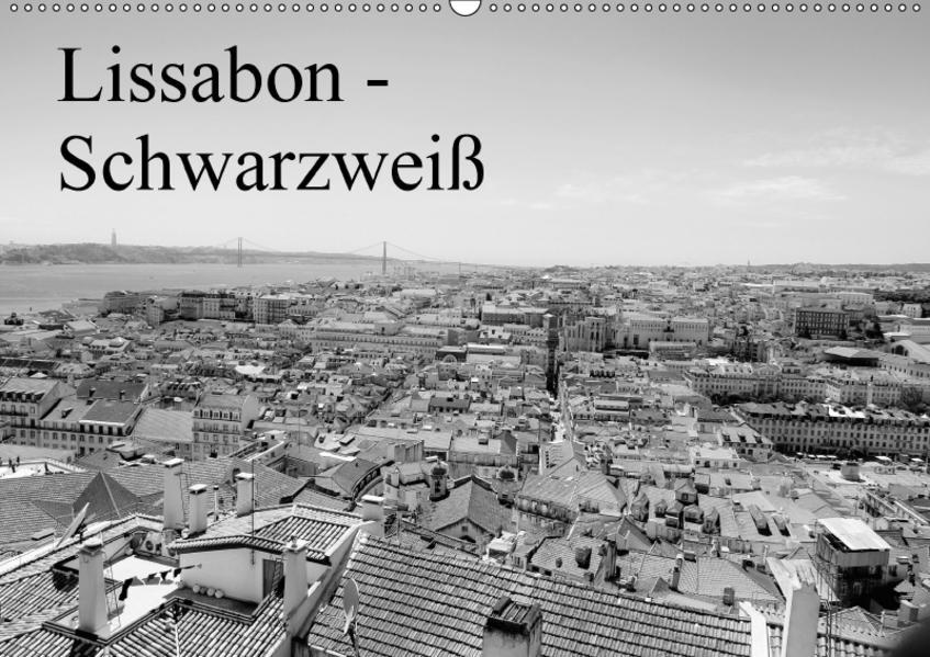 Lissabon - Schwarzweiß (Wandkalender 2017 DIN A2 quer) - Coverbild