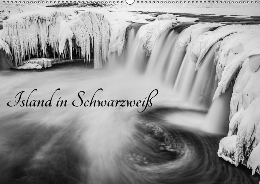Island in Schwarzweiß (Wandkalender 2017 DIN A2 quer) - Coverbild