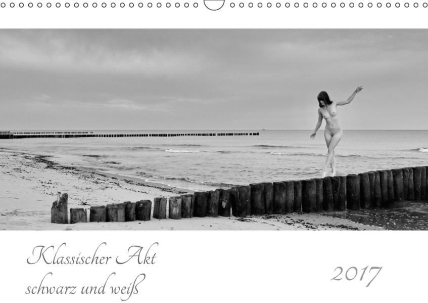 Klassischer Akt schwarz und weiß (Wandkalender 2017 DIN A3 quer) - Coverbild