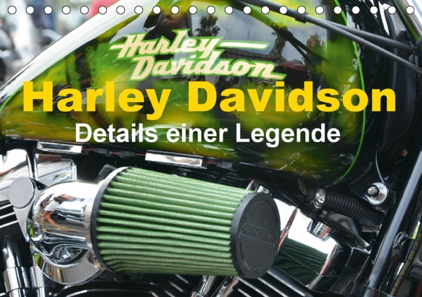 Harley Davidson - Details einer Legende (Tischkalender 2017 DIN A5 quer) - Coverbild