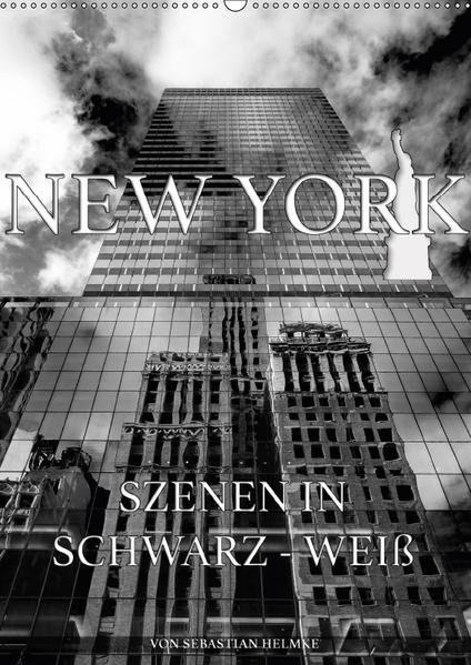 New York - Szenen in Schwarz - Weiß (Wandkalender 2017 DIN A2 hoch) - Coverbild