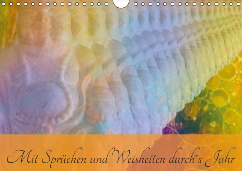 Mit Sprüchen und Weisheiten durch´s Jahr (Wandkalender 2017 DIN A4 quer) - Coverbild