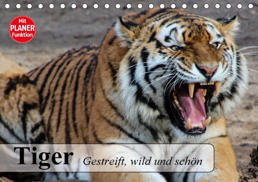 Tiger. Gestreift, wild und schön (Tischkalender 2017 DIN A5 quer) - Coverbild