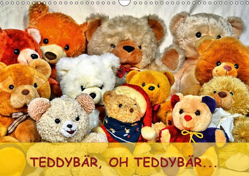 TEDDYBÄR, OH TEDDYBÄR... (Wandkalender 2017 DIN A3 quer) - Coverbild