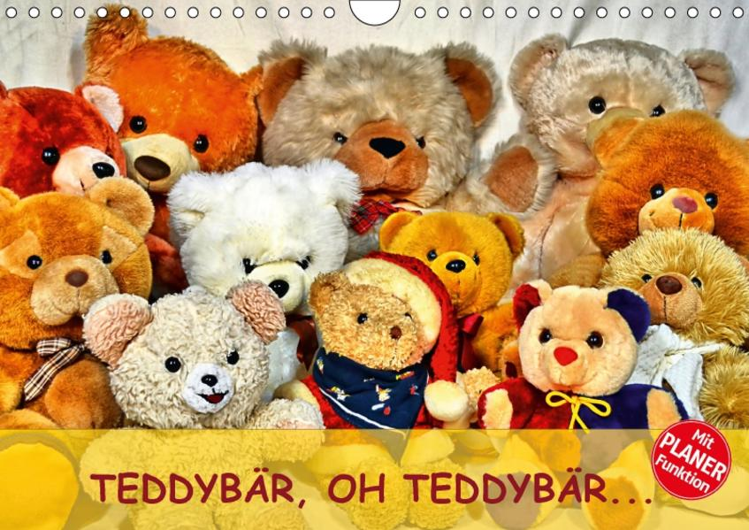TEDDYBÄR, OH TEDDYBÄR... (Wandkalender 2017 DIN A4 quer) - Coverbild