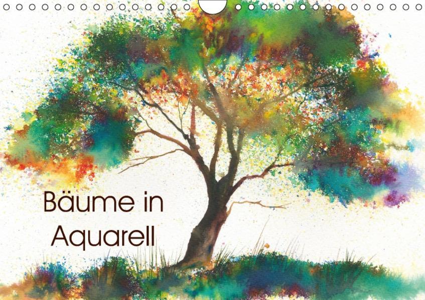 Bäume in Aquarell (Wandkalender 2017 DIN A4 quer) - Coverbild