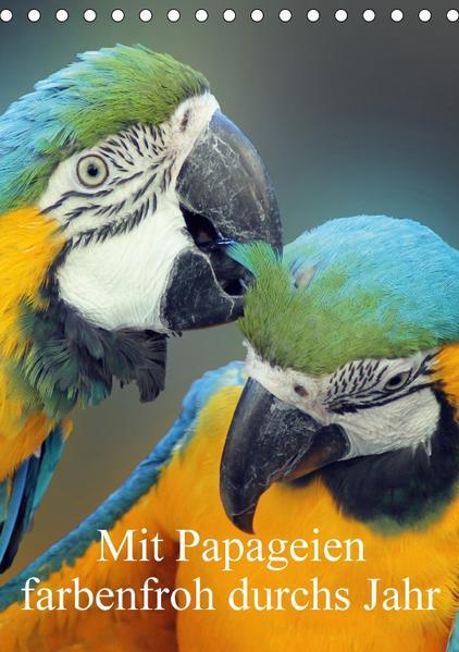 Mit Papageien farbenfroh durchs Jahr (Tischkalender 2017 DIN A5 hoch) - Coverbild