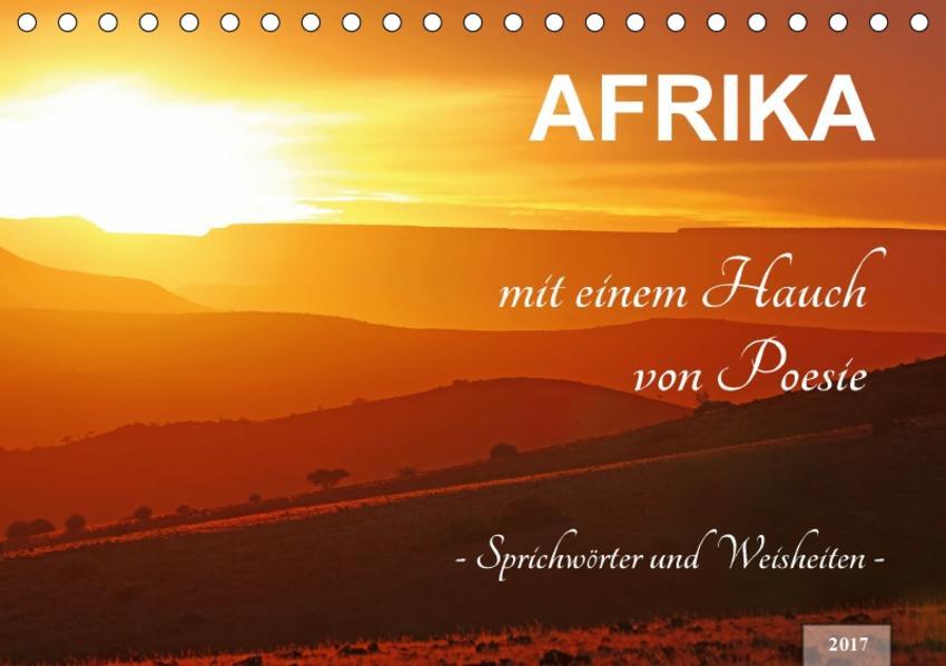AFRIKA mit einem Hauch von Poesie (Tischkalender 2017 DIN A5 quer) - Coverbild