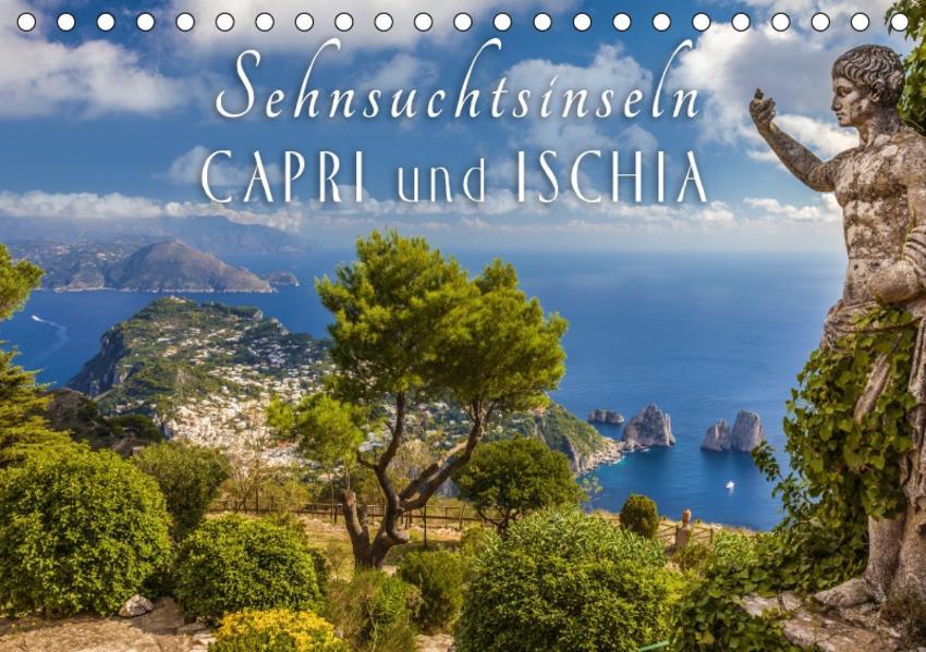 Sehnsuchtsinseln Capri und Ischia (Tischkalender 2017 DIN A5 quer) - Coverbild